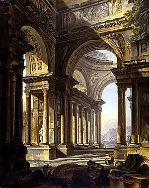 Pierre-Antoine Demachy - A Temple in Ruins