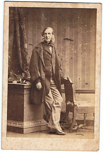 William Andrew Salius Fane de Salis - William aged 49 by Camille Silvy, 1861.