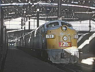 Louisville and Nashville Railroad - The Georgian at St. Louis Union Station, 1970