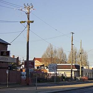 Undergrounding - Undergrounding of overhead power lines in Wagga Wagga, Australia.