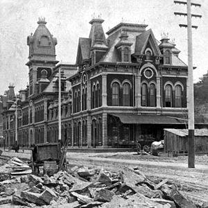 Kansas City Union Station - Union Depot, circa 1880.