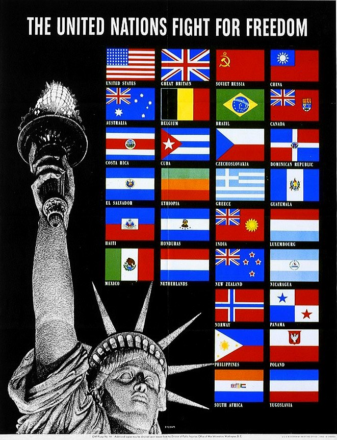 United Nations Fight for Freedom poster