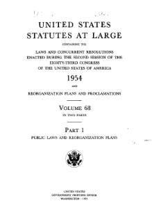 United States Statutes at Large Volume 68 Part 1.djvu