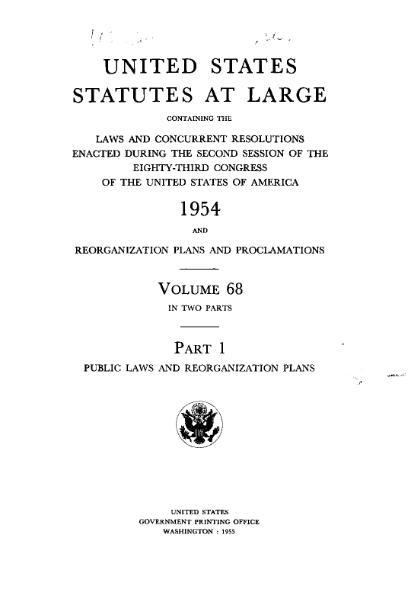 File:United States Statutes at Large Volume 68 Part 1.djvu