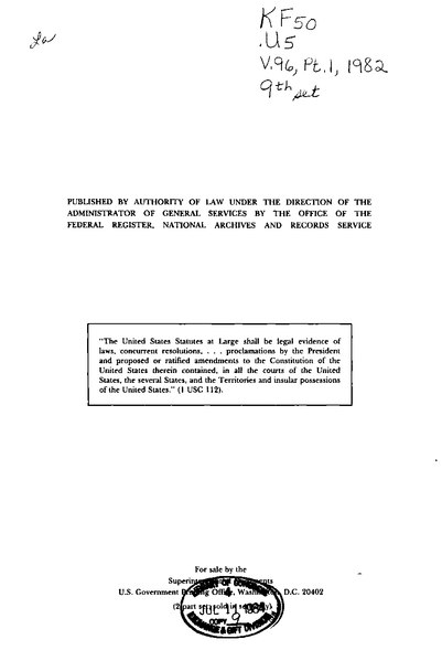 File:United States Statutes at Large Volume 96 Part 1.djvu