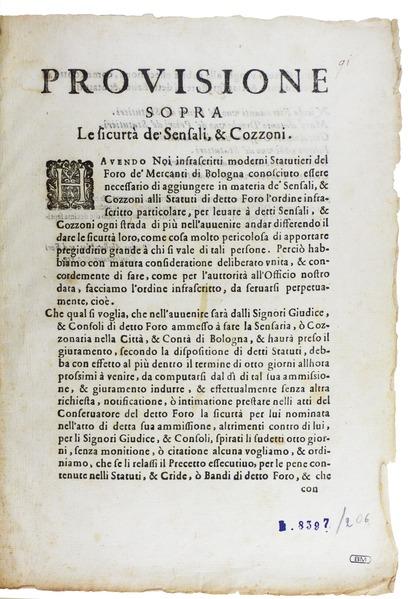 File:Università dei Mercanti - Prouisione sopra le sicurtà de' sensali, 1614 - 441.tif