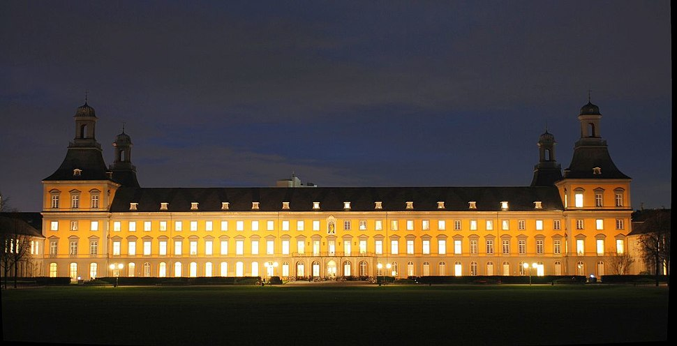 University bonn at night