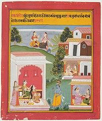 Krishna and Radha with Attendants