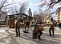 Unusual lifesize group sculpture of street musicians in Praga district in Warsaw (8121509220).jpg
