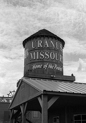 Uranus, Missouri - Uranus, Missouri water tower