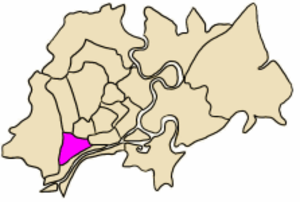 District 6, Ho Chi Minh City - Image: VN F HC Q6 position in city core