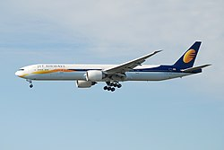 Boeing 777-300ER der Jet Airways
