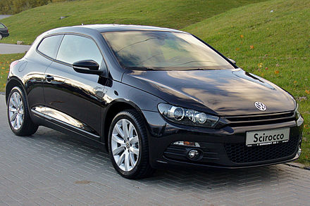 The third generation Volkswagen Scirocco VW Scirocco III 1.4 TSI DSG Team Deep Black.JPG