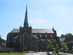 Val-Dieu Abbey - The abbey church