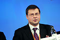Valdis Dombrovskis, Lettlands statsminister, vid Baltic Development Forums summit i Stockholm 2009.jpg