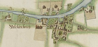 Brittenburg -  Valkenburg in 1627.