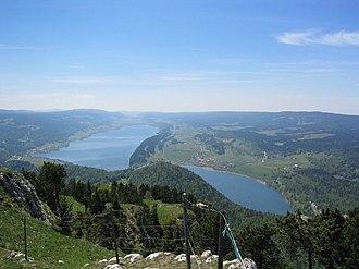 Vallée de Joux - Lac de Joux and lac Brenet, Vallée de Joux, picture taken from the Dent de Vaulion