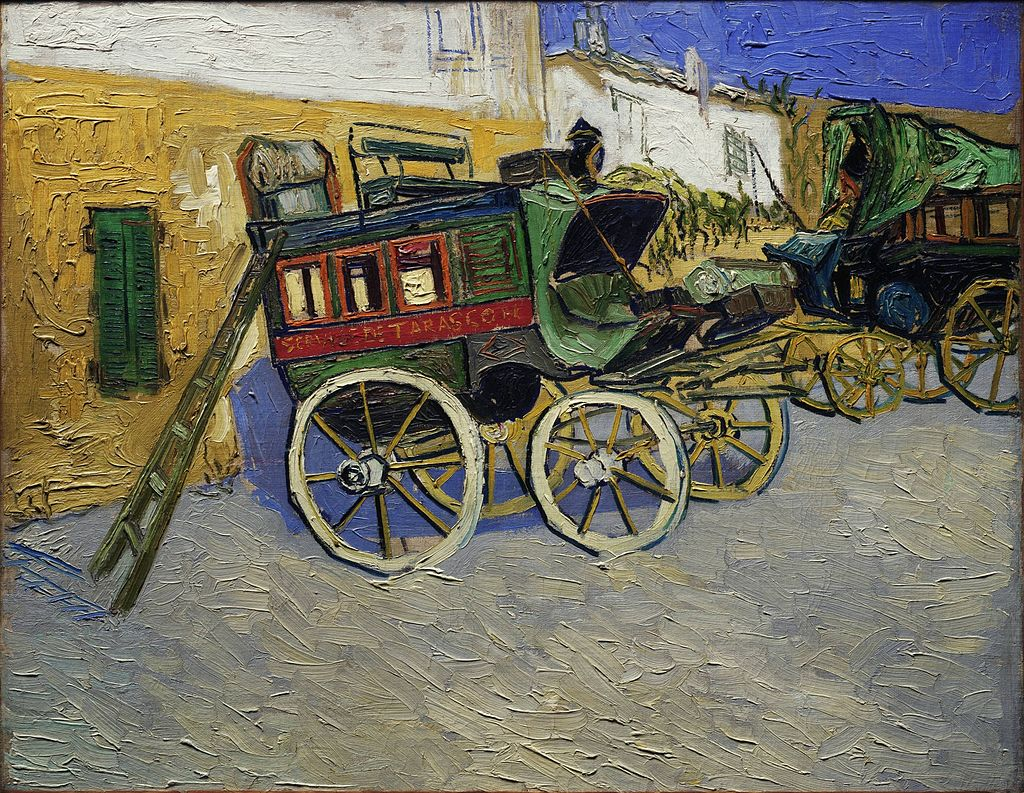 """Tarascon Stagecoach"" by Vincent van Gogh"