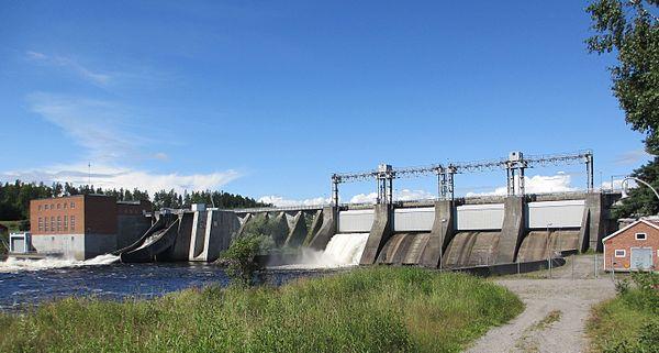 Fortums Vattenkraftverk i Ljusnan vid Söderhamn