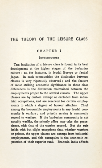 The Theory of the Leisure Class, 1924 Veblen - Theory of the leisure class, 1924 - 5854536.tif