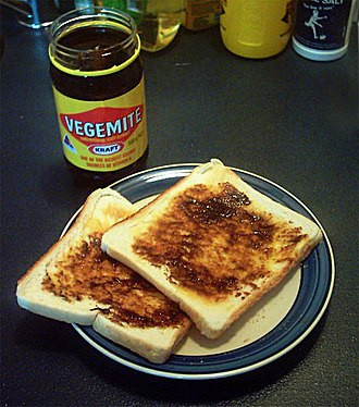 Breakfast - Toast with vegemite