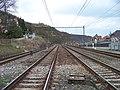 Velká Chuchle, železnice od přejezdu k Praze.jpg