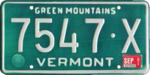 Vermont license plate, 1977–1984 series with September 1981 sticker.png