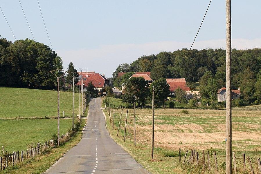 Vue de Verrières-du-Grosbois (Doubs).