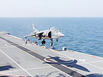 Vertical take off by an Indian Navy Sea Harrier.jpg