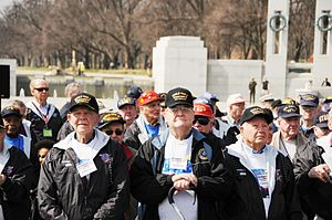 About 250 veterans gathered at the World War I...