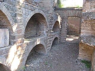 Vigna Randanini Jewish catacombs situated near the Appian Way near Rome, Italy