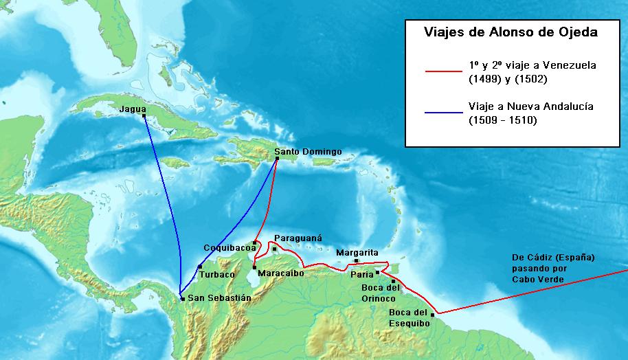 Viajes de Alonso de Ojeda
