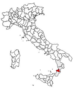 Location of Province of Vibo Valentia
