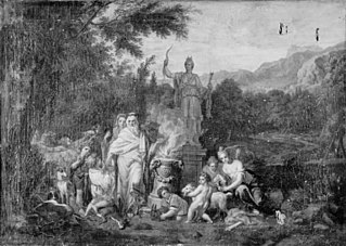 Landscape with Sacrifice to Diana