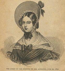 3c37bb877a00 Drottning Viktoria, den dag hon tillträdde tronen.
