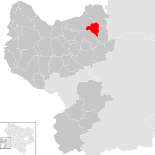 Location of the municipality of Viehdorf in the Amstetten district (clickable map)