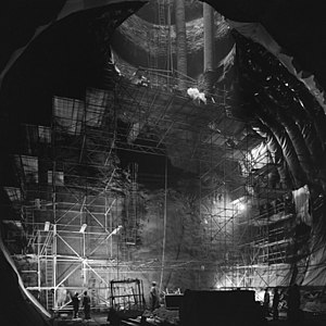 UA2 experiment - Civil engineering for the underground experimental hall at LSS4