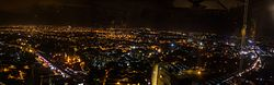 View of Bangalore at night as seen from the High Ultra Lounge at the World Trade Centre, Malleshwaram.jpg