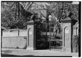 View of Entrance Gate - Dumbarton Oaks, 3101 R Street, Northwest, Washington, District of Columbia, DC HABS DC,GEO,234-1.tif