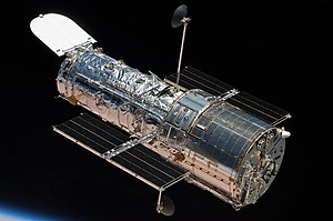 View of Hubble after Being Released from the Shuttle Atlantis (28223588012).jpg
