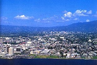 Photo of the city of Kingston taken from a helicopter