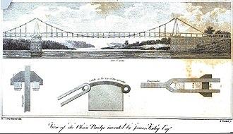 Spider Bridge at Falls of Schuylkill - Image: View of the Chain Bridge The Port Folio June 1810