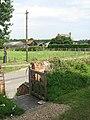 View to Church Farm from the churchyard gate - geograph.org.uk - 1431098.jpg