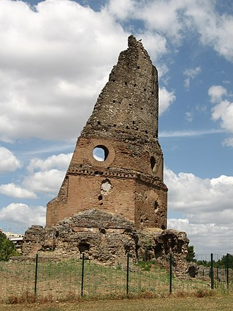 "Villa Gordiani - The so-called Tor de' Schiavi or Torrione (""Big Tower"")."