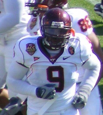 2005 Sugar Bowl - Linebacker Vince Hall was one of the stars of the Virginia Tech defense.