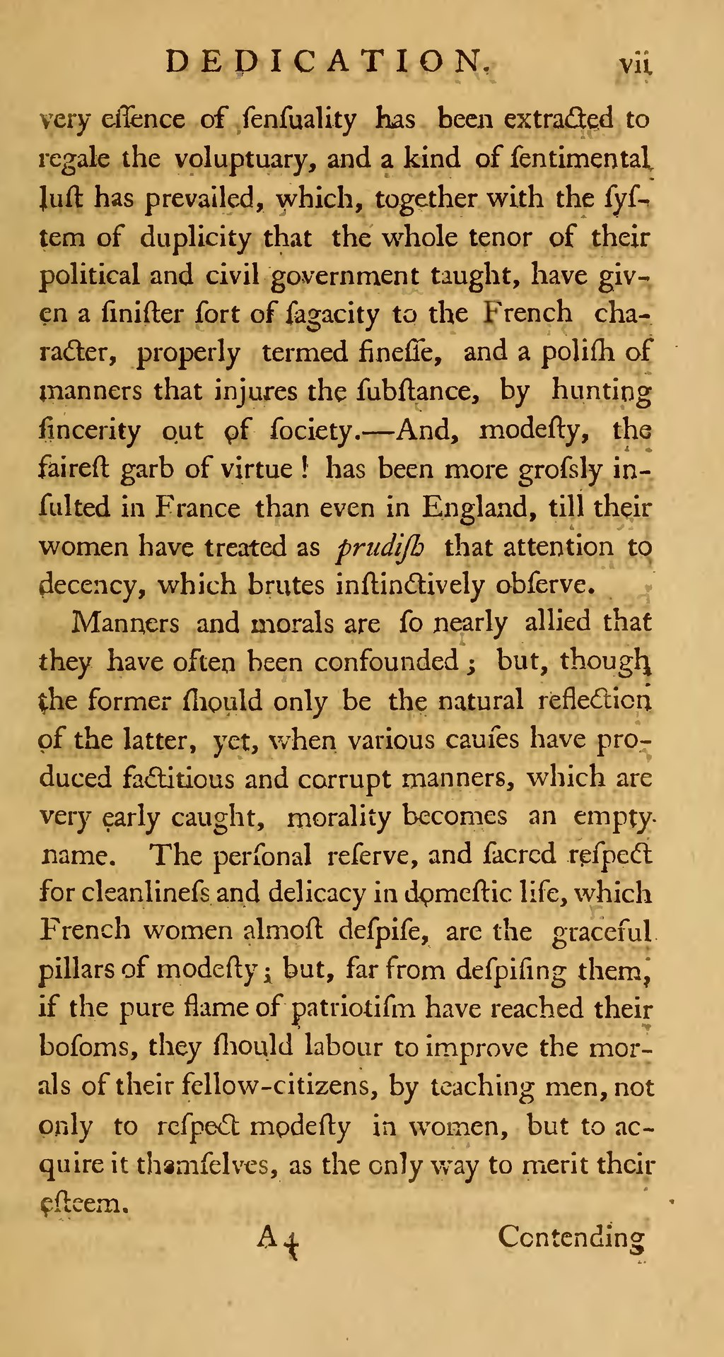 the principle of contending for the rights of women in the vindication of the rights of women A vindication of the rights of woman: with strictures on political and moral subjects (1792), written by the 18th-century british proto-feminist mary wollstonecraft, is one of the earliest works of feminist philosophy.