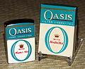 Vintage Cigarette Lighter - Oasis Filter Cigarettes With Menthol Mist, By Continental, Made in Japan (11158394916).jpg
