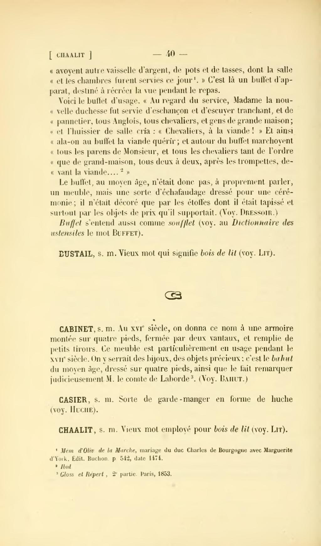 mot pour la datation dans français