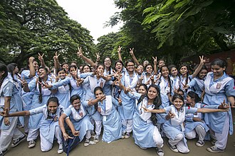 Viqarunnisa Noon School and College - Students after SSC examination result in 2017
