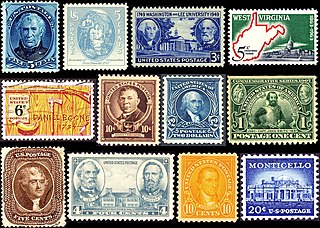 History of Virginia on stamps